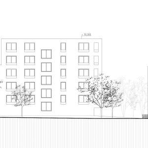 Pohľad východný. Zdroj: Vallo Sadovsky Architects / EIA
