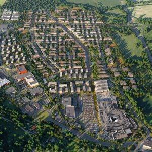 Vízia Borov z roku 2021. Zdroj: Penta Real Estate