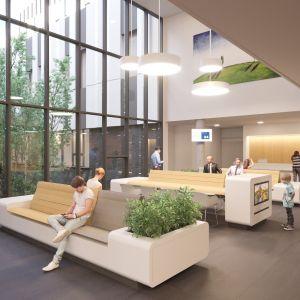 Architektúra nemocnice umožňuje vznik série zelených átrií a dotyku so zeleňou. Zdroj: Svet zdravia