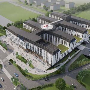 Na streche bude aj heliport. Projekt bude v dotyku s rezidenčnými časťami Borov. Zdroj: Svet zdravia