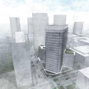 V downtowne pribudne ďalšia výšková budova, nahradí dočasnú autobusovú stanicu