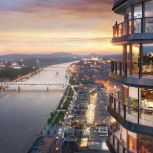 Výhľad z Eurovea Tower. Zdroj: J&T Real Estate
