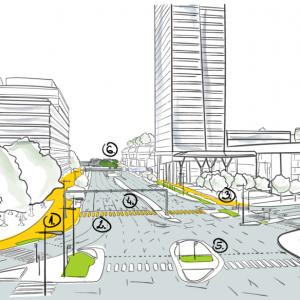 Návrh ulice Mlynské nivy prechádza zmenami, bude priateľskejšia k chodcom aj cyklistom