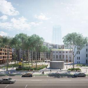 Nové námestie v Zwirne. Zdroj: Lokal Architekti