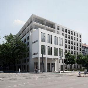 Nadstavaný bytový dom Račianska spoločne so zrekonštruovanou tlačiarňou Svornosť - Lofty Kominárska. Zdroj: GutGut
