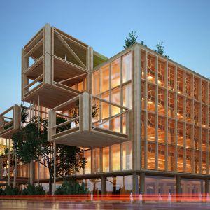 Administratívna budova - drevostavba. Zdroj: Ateliér 3A