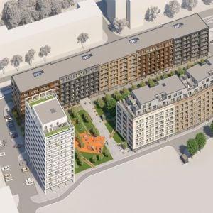 Urban Residence - celkový pohľad. Zdroj: Lucron