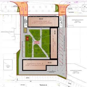 Green Atrium. Situácia. Zdroj: JAGR, s.r.o. / EIA