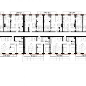 Typické podlažie. Zdroj: DM Architekti