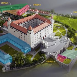 Situácia tretej etapy obnovy Hradu. Zdroj: Národná rada Slovenskej republiky