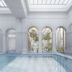 Väčší plavecký bazén. Zdroj: Metropolitný inštitút Bratislavy / OPPS Architettura