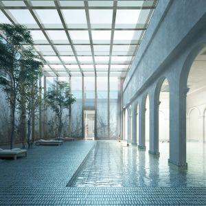 Skleník pri menšom plaveckom bazéne. Zdroj: Metropolitný inštitút Bratislavy / OPPS Architettura