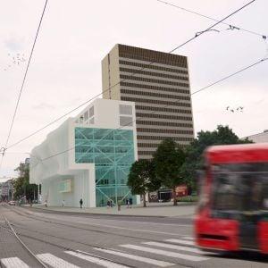 Ocenený návrh, administratívna budova: Miroslav Novotný. Zdroj: Lordship