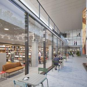 Knižnica s pátiom. Zdroj: SNG / Ján Krížik