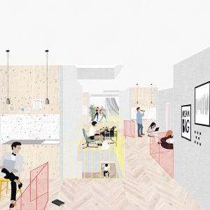 Spoločná obývačka v internáte. Zdroj: SLLA