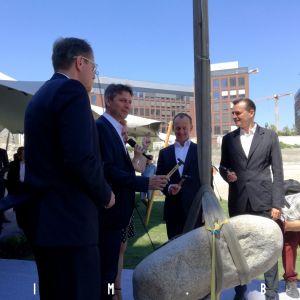 Zľava Radoslav Števčík, Ivo Nesrovnal, Jozef Oravkin a Patrik Schumacher