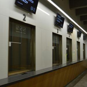 Interiér dočasnej stanice