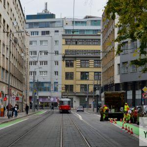 Vyznačovanie Historického okruhu na Jesenského ulici