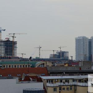 Budúci downtown, ktorý sa v najbližších rokoch zaplní novými vežami.