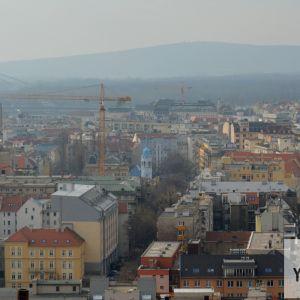 Modrý kostolík a Dunajská štvrť.