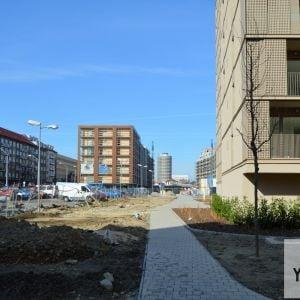 Priestor medzi projektom Pri Mýte a Račianskou ulicou a vizuálna os cez projekt Urban Residence až ku