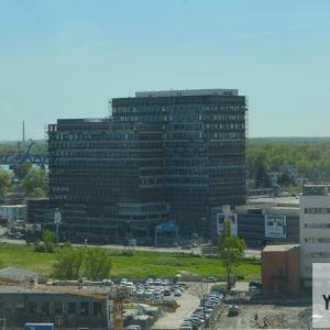 Pohľad z 13. podlažia Twin City Tower