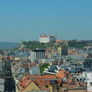 Typická panoráma Hradu a historického jadra mesta