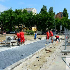 Nástupný priestor do parku sa dočká úpravy v štýle typickom pre Staré Mesto v poslednom období.