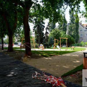 Aktuálne sa dokončuje detské ihrisko.