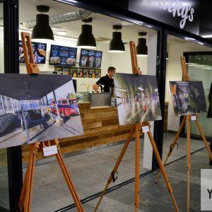 Výstava prezentujúca postup rekonštrukcie.