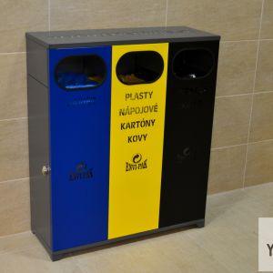 Jedno z mála pozitív - počet košov na separovaný odpad by sa mal v priestoroch stanice aj v okolí ďalšej rozšíriť.