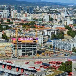 Budúca najvyššia administratívna budova v Bratislave - Nivy Tower, ktorá dosiahne výšku 125 metrov