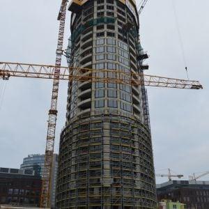 Veža 1 z miesta, kde raz bude Veža 4