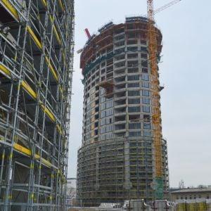 Veža 1. Po dokončení parku pôjde o veľmi zaujímavý pohľad