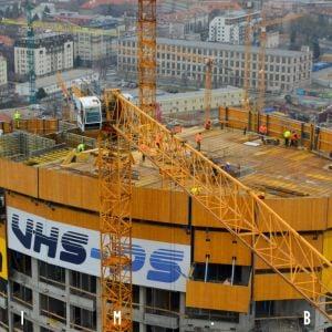 Veža 3 - práce na výstavbe ďalšieho podlažia