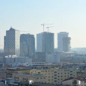 Hlavný cluster veží, kde sa aktuálne pracuje najmä na projekte Sky Park