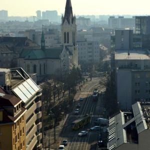 Radlinského ulica a Blumentálsky kostol