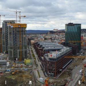 Pohľad na staré a nové centrum mesta