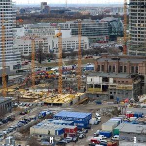 Pohľad z Nivy Tower na výstavbu a rekonštrukciu kancelárskych objektov