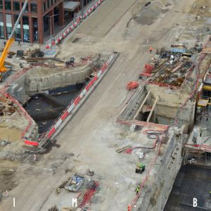Prestavba ulice Mlynské nivy, výstavba kruhového objazdu