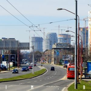 Pohľad z križovatky Bajkalská - Prievozská, 17.3.2019