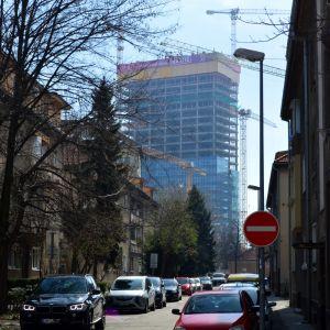 Pohľad zo sídliska 500 bytov