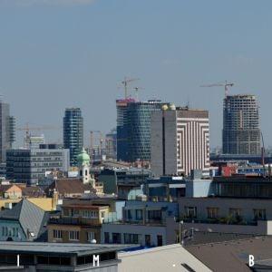 V strede záberu Nivy Tower, čoskoro najvyššia budova Slovenska