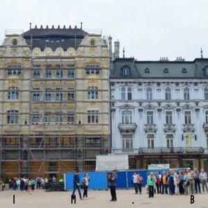 Palác Uhorskej a eskontnej a zmenárenskej banky a Maximiliánova fontána