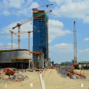 Stanica Nivy a Nivy Tower, jún 2019