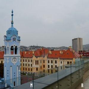 Výhľad z bytu v nadstavbe na Bezručovej 3
