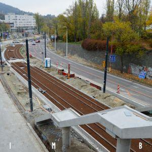 Nové schodisko na zastávke Karlova Ves
