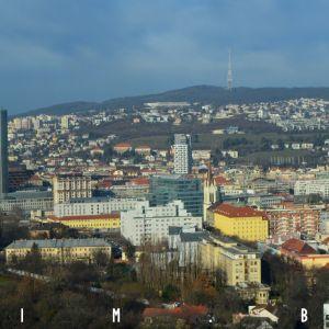 Severné časti centra, silne viditeľný je projekt Première