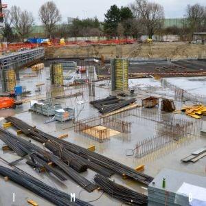 Výstavba základov pre šiestu etapu
