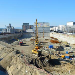 Aktuálny stav výstavby. Fotografia z 8.2.2020